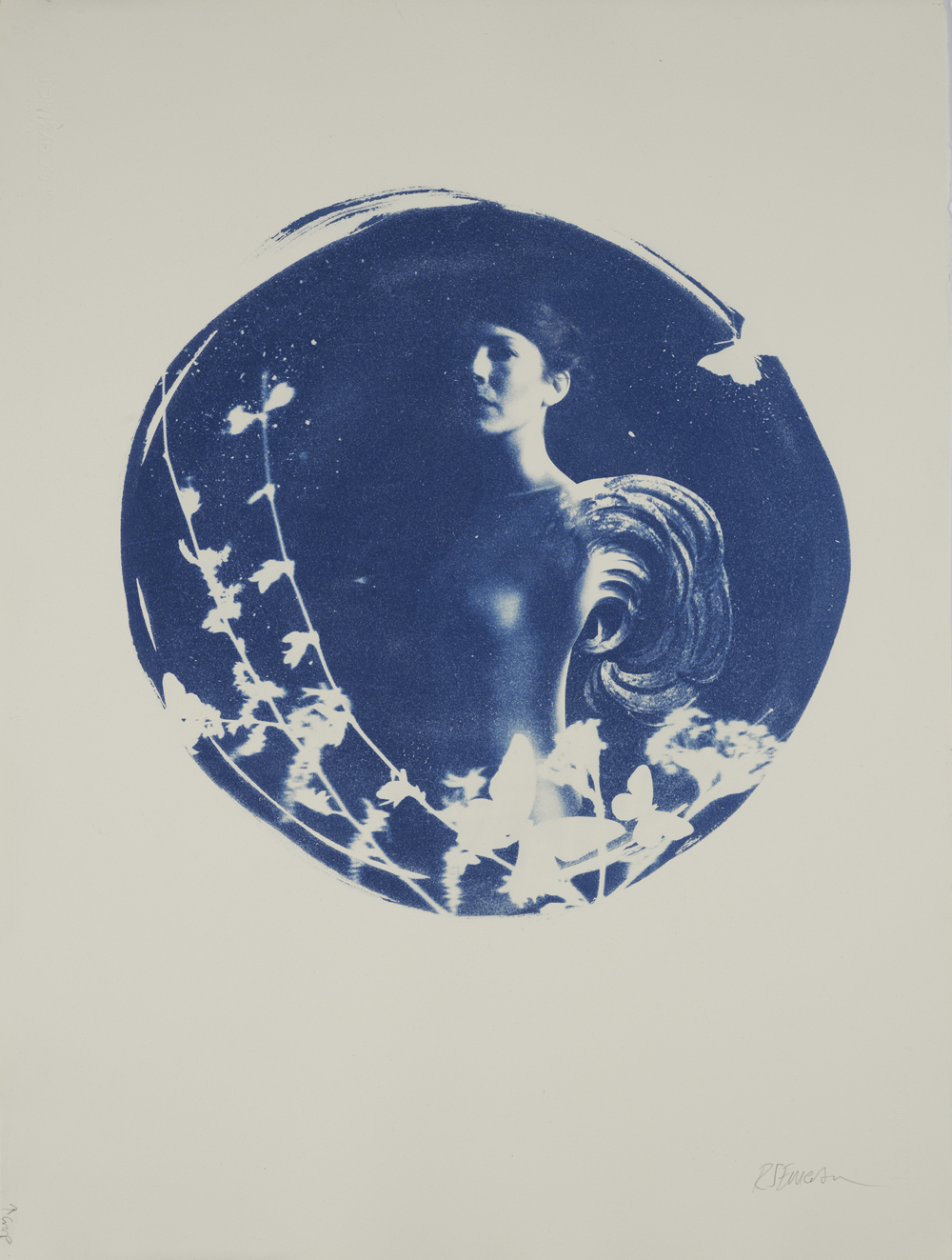 Aquila edition 1 of 2 by Rosie Emerson, Cyanotype on paper, 75 x 55 cm, £800 framed