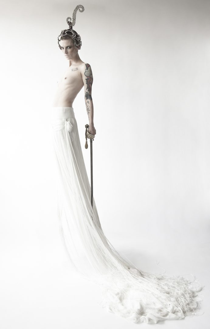 White Knight by Rosie Emerson in collaboration with Photographer Becky Palmer