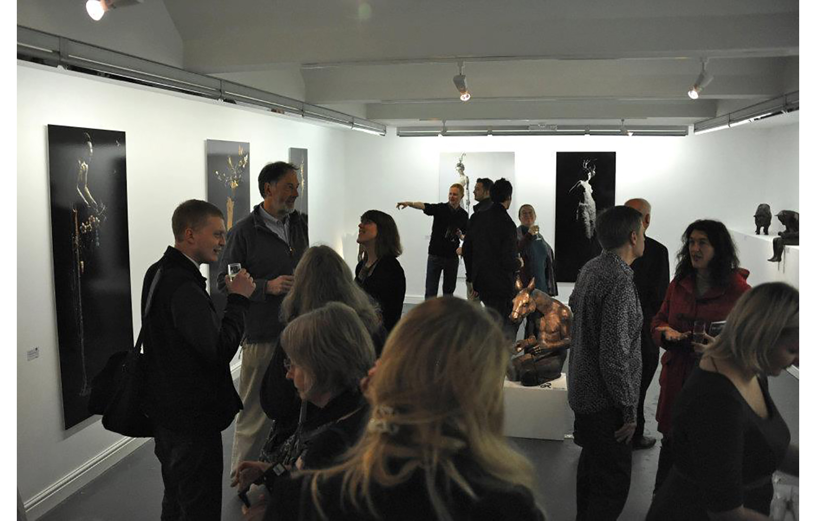 In Darkness Blooms private view, view gallery